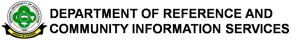 Department of Reference and Community Information Services